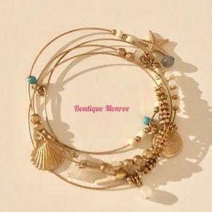 ⚡️NEW⚡️ 4pcs bohemian seashell beach bangle set